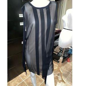 3.1 Philip Lim Black and Nude Silk Dress